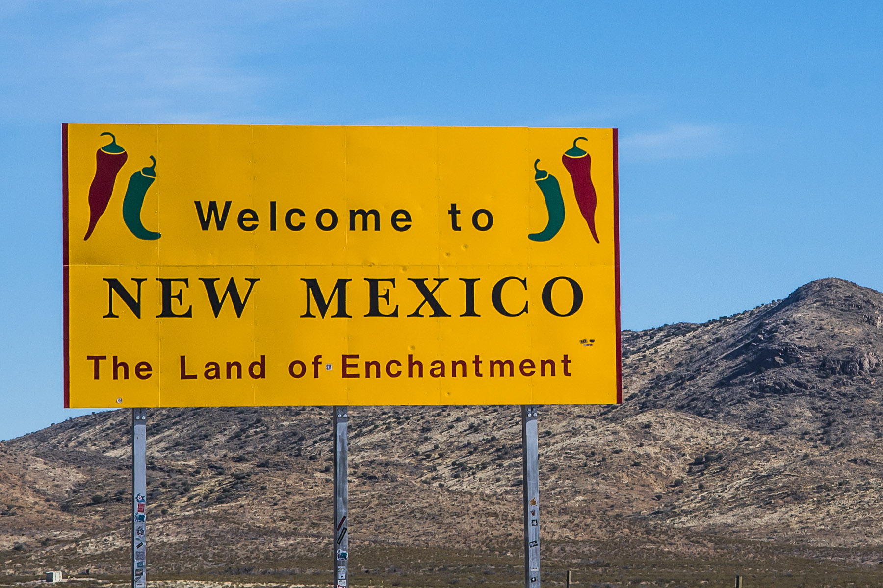 We've arrived! Welcome to New Mexico, the Land of Enchantment.