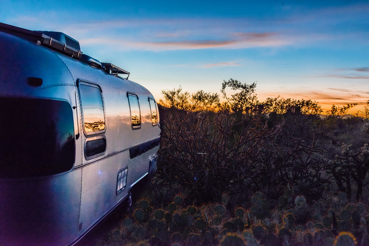 Reflections of the Sonoran Desert sunset at Gilbert Ray Campground outside Tucson, AZ (Photo by John Kelly Green)